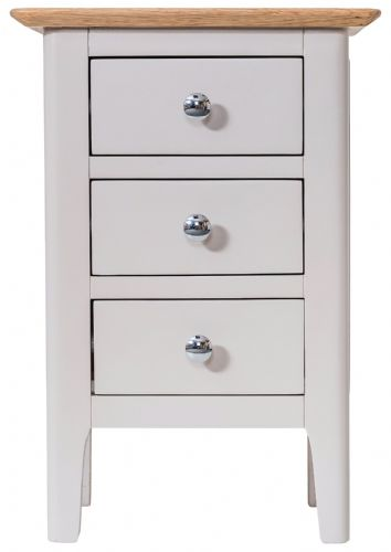 Scandia Grey Small Bedside Cabinet